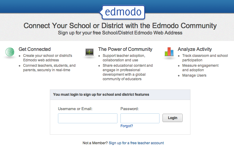 Edmodo district page
