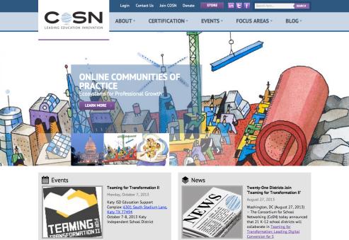 new CoSN site