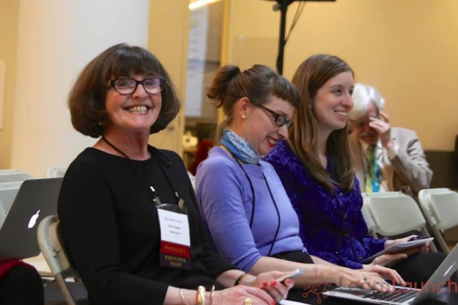 CREDIT Sonal Dhingra. Eileen Rudden co-founder LearnLaunch, Kellian Adams of Greendoor Labs, Marissa Lowman cofounder and Exec Dir LearnLaunch
