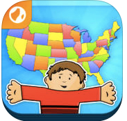 US Geography with Flat Stanley app icon